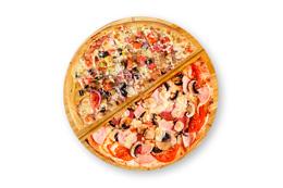Собери пиццу из половинок!